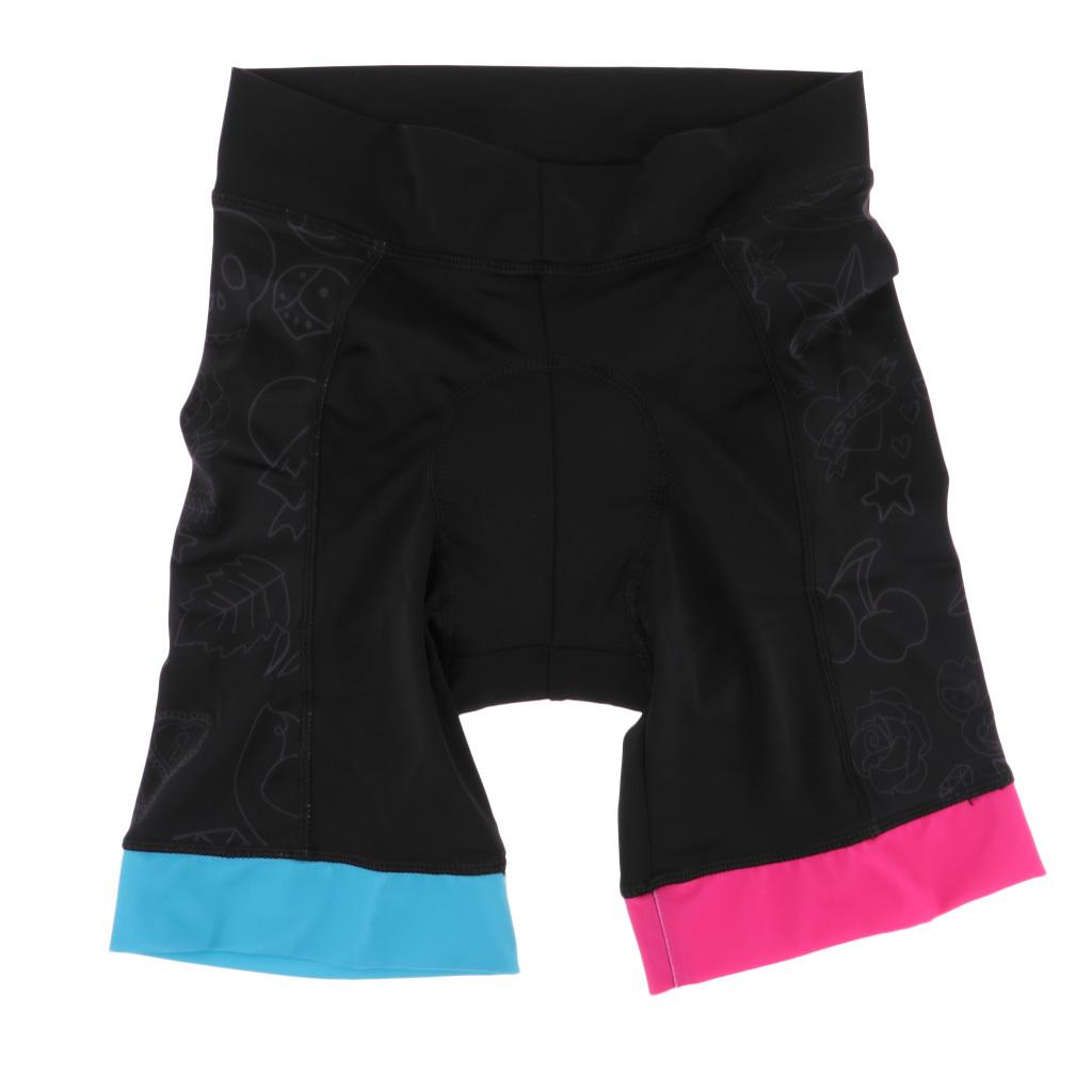 HBRT Pantaloncini da Ciclista da Donna Pantaloncini da Ciclista Pantalone Imbottito di Sudore con 3D Gel Imbottito per Andare in Bici da pallavolo