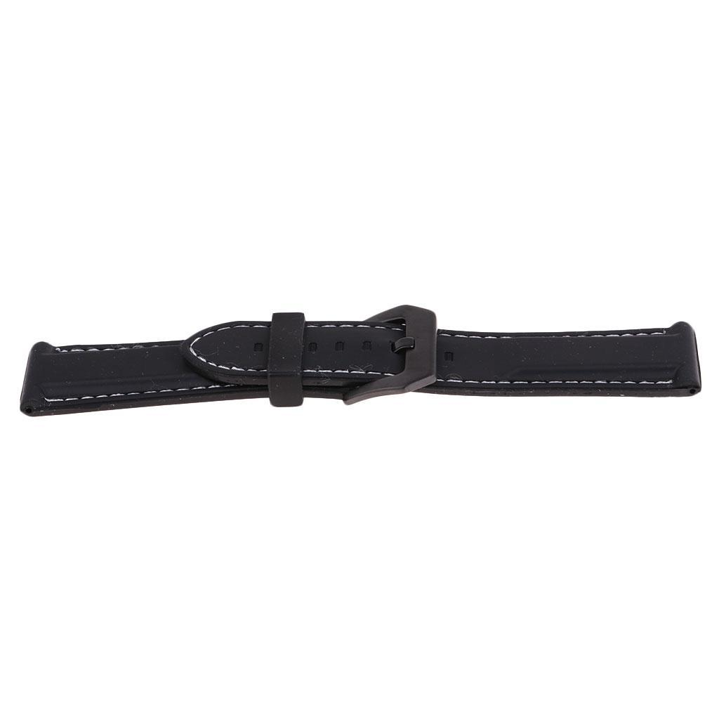 22-24-26mm-Silicone-Watch-Band-Wrist-Rubber-Men-Sport-Diver-Waterproof-Strap thumbnail 14
