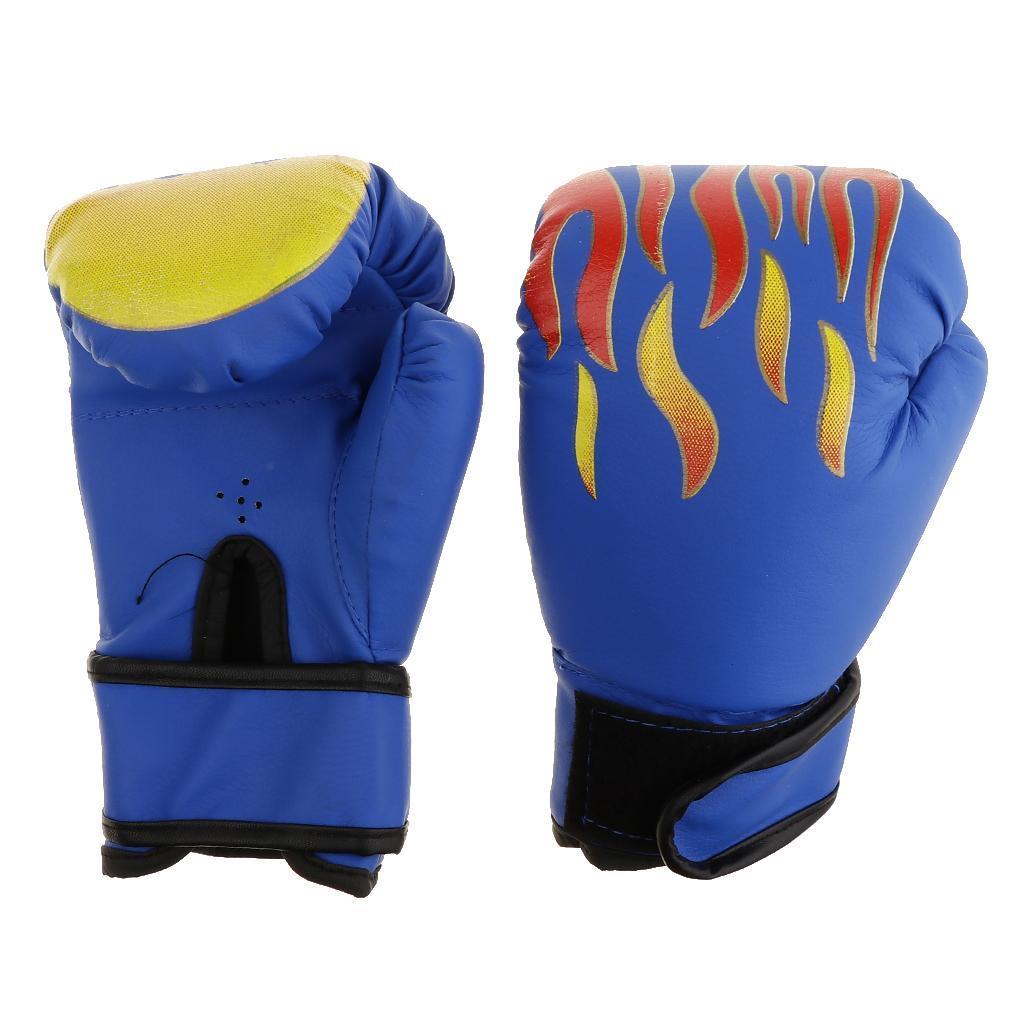 Guanti-da-MMA-Unisex-Guanto-Da-Boxe-In-Pelle-Per-Kickboxing-Muay-Thai miniatura 14