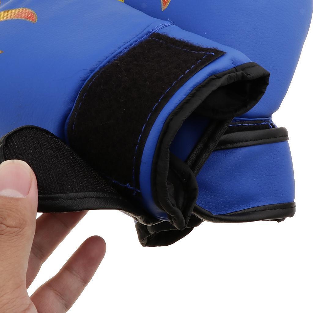 Guanti-da-MMA-Unisex-Guanto-Da-Boxe-In-Pelle-Per-Kickboxing-Muay-Thai miniatura 13