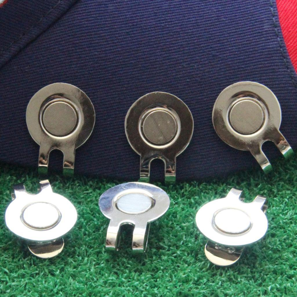 6-Pieces-Professional-Golf-Hat-Clip-Ball-Marker-Training-Aids-Accessories thumbnail 6