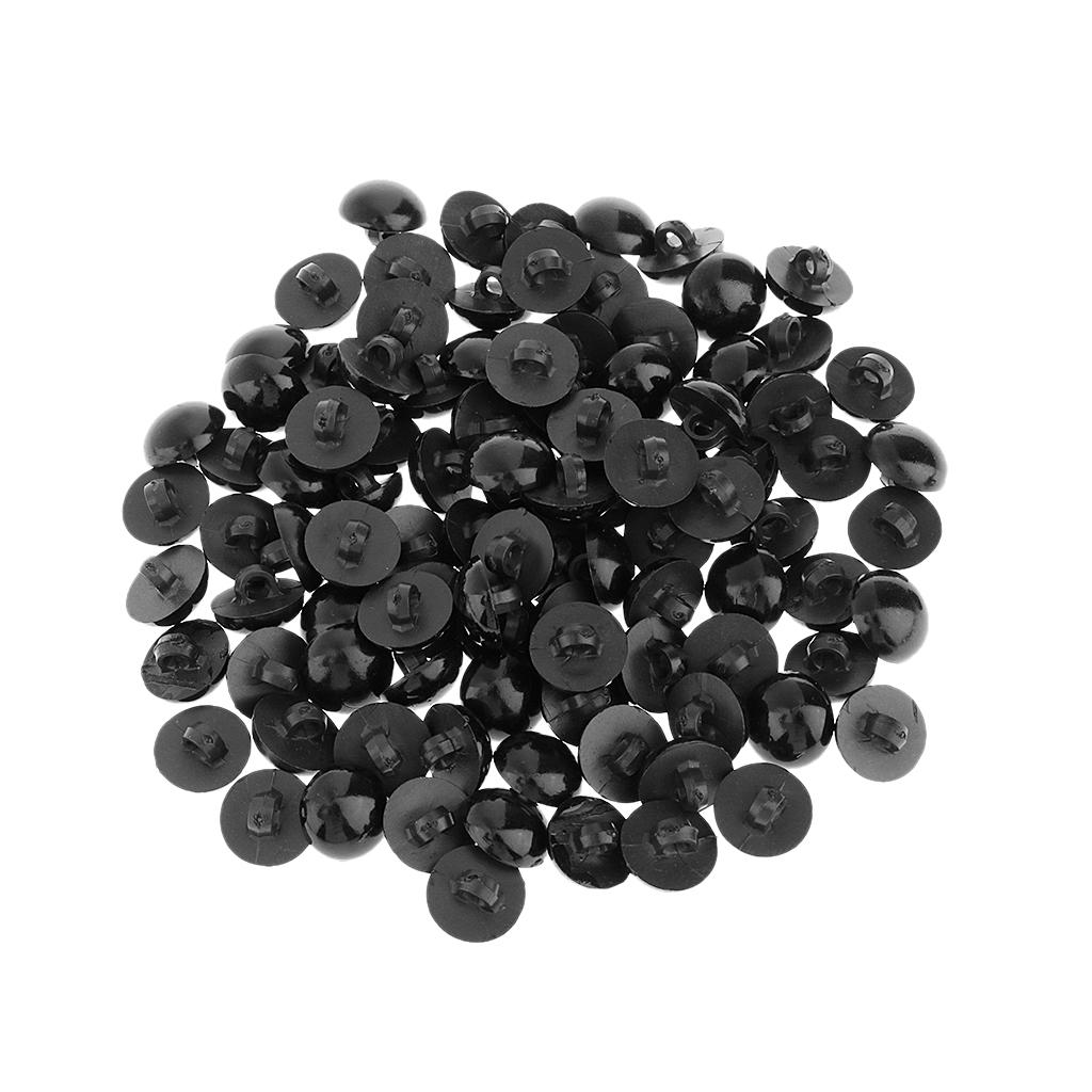 miniature 15 - 100-Pcs-Champignon-Bouton-Dome-Couture-Animaux-Yeux-Poupee-Diy-Artisanat