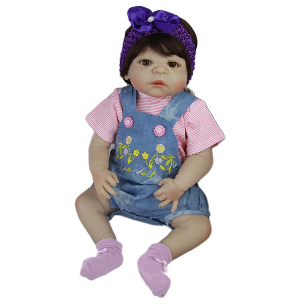 Lifelike-Baby-Dolls-Romper-Clothes-Headdress-for-22-039-039-23-039-039-Reborn-Baby-Girl-Doll thumbnail 11