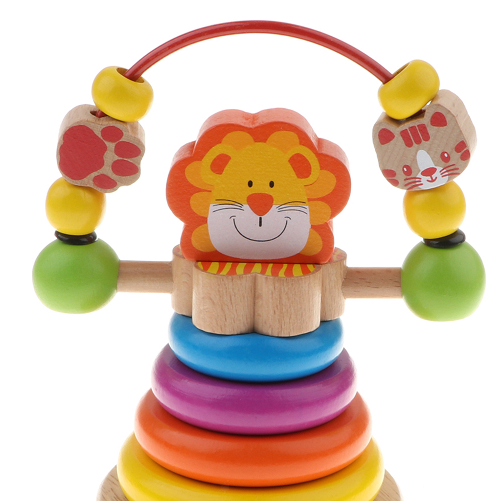 Baby Toddler Wooden Montessori Toys - Rainbow Stacking ...