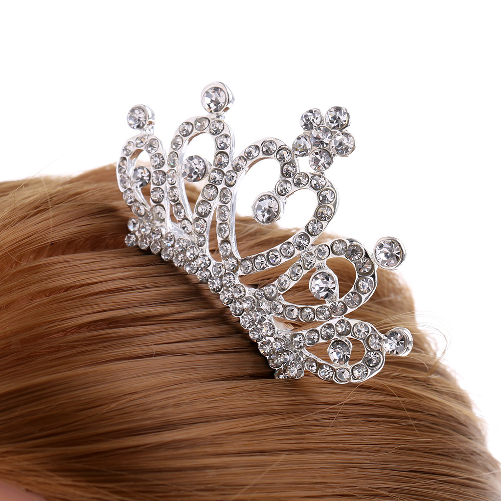Princess-Crystal-Mini-Hair-Crown-Tiara-Hair-Comb-Girls-Woman-Wedding-Party-Gift thumbnail 25