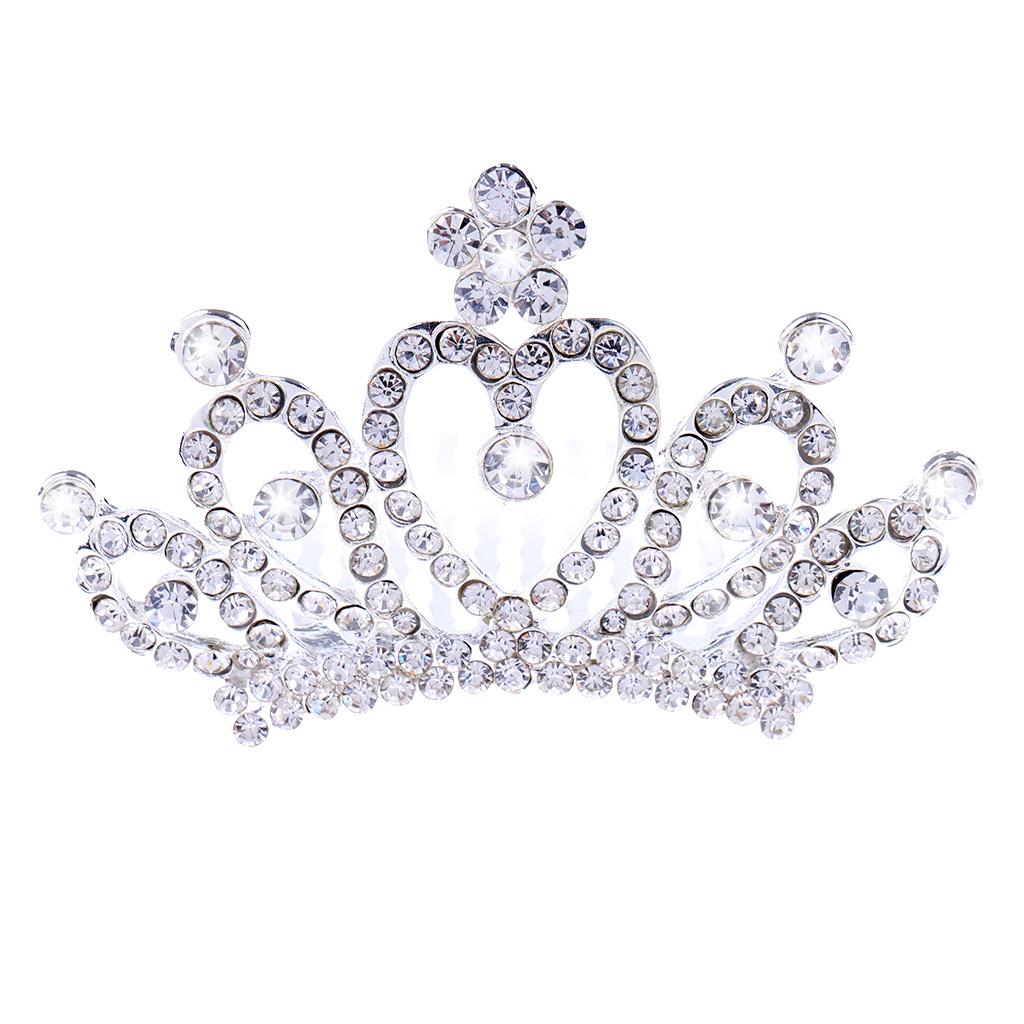 Princess-Crystal-Mini-Hair-Crown-Tiara-Hair-Comb-Girls-Woman-Wedding-Party-Gift thumbnail 26