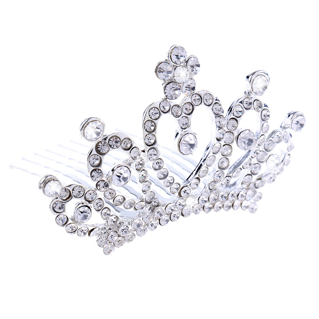 Princess-Crystal-Mini-Hair-Crown-Tiara-Hair-Comb-Girls-Woman-Wedding-Party-Gift thumbnail 27