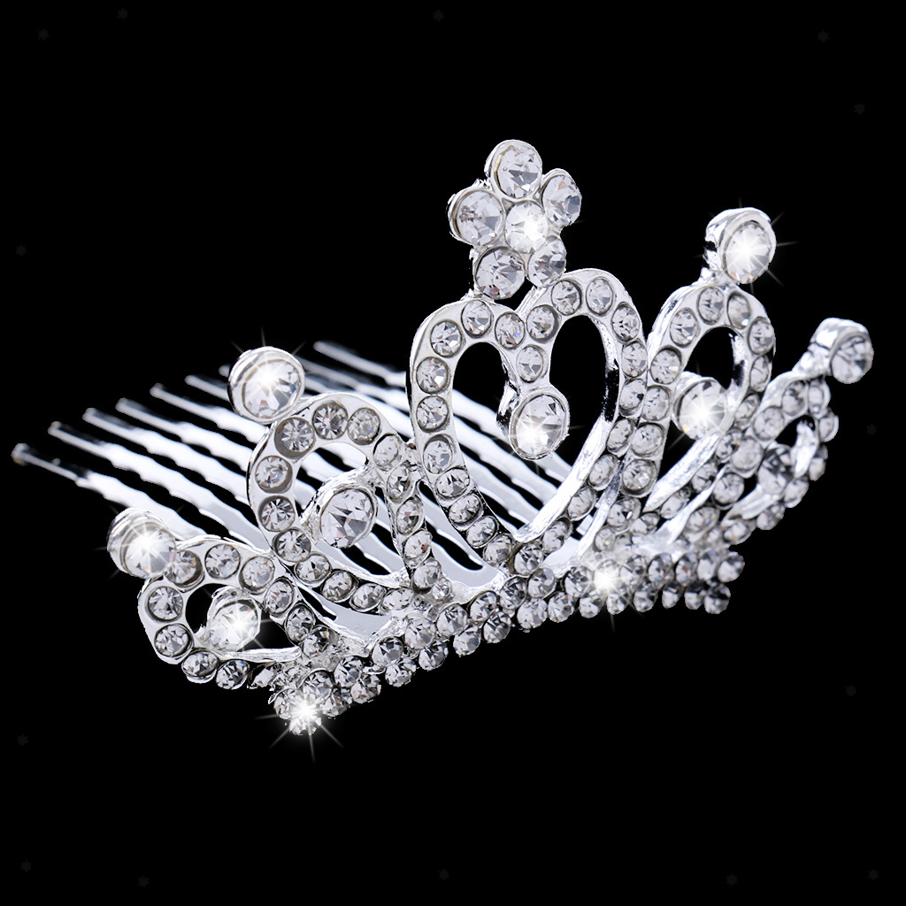 Crystal-Mini-Crown-Tiara-Girls-Woman-Fancy-Dress-Hair-Comb-Wedding-Party-Gift thumbnail 10
