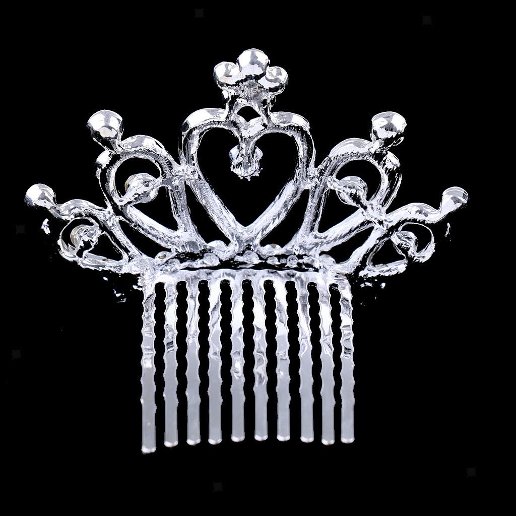 Princess-Crystal-Mini-Hair-Crown-Tiara-Hair-Comb-Girls-Woman-Wedding-Party-Gift thumbnail 29