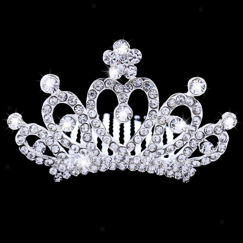 Princess-Crystal-Mini-Hair-Crown-Tiara-Hair-Comb-Girls-Woman-Wedding-Party-Gift thumbnail 24