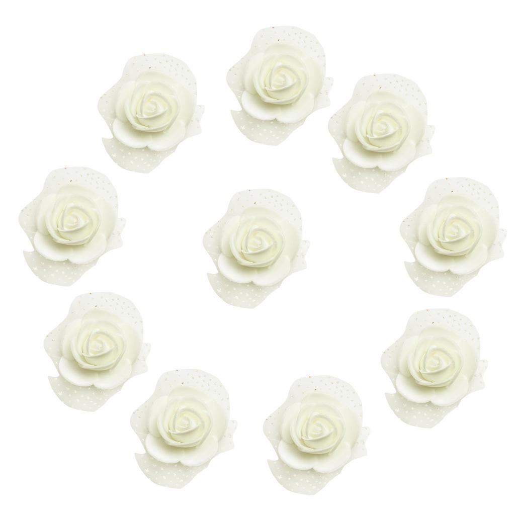 100-Pieces-Romantique-Mousse-Artificielle-Rose-Tete-Fleurs-De-Mariage miniature 21