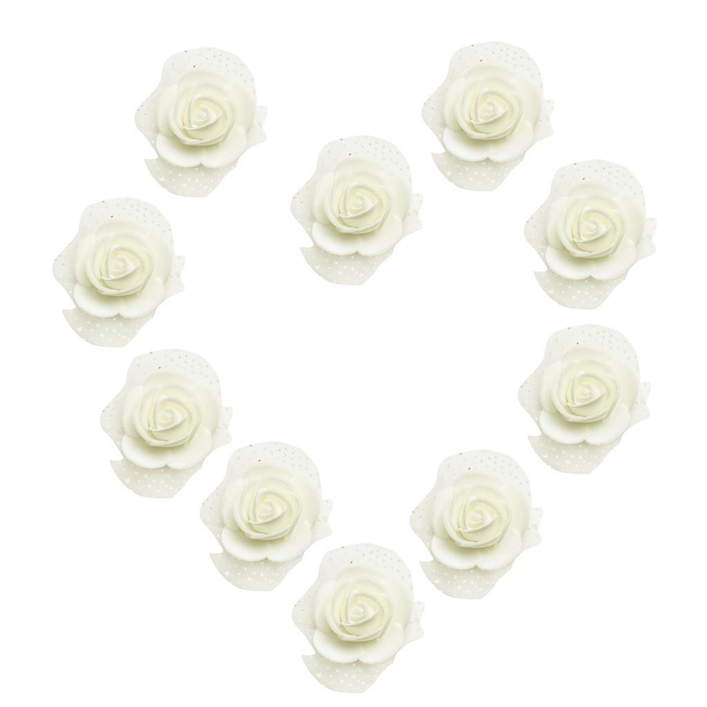 100-Pieces-Romantique-Mousse-Artificielle-Rose-Tete-Fleurs-De-Mariage miniature 20
