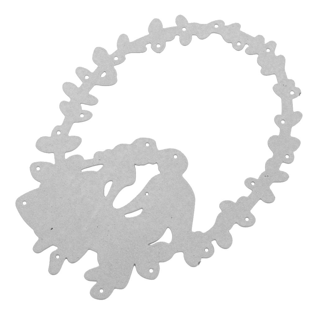 Kreis Metall Stanzformen Schablone DIY Scrapbooking Präge Ordner Karte Dekor CN