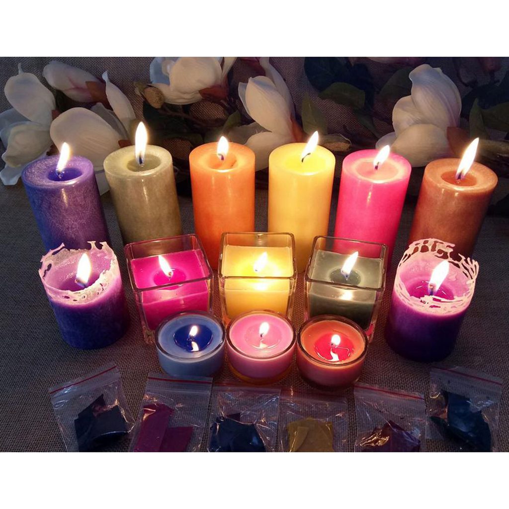 Details about 5g Candle Wax Dye Chips Flakes Pigment for Candle Making  Coloring Materials