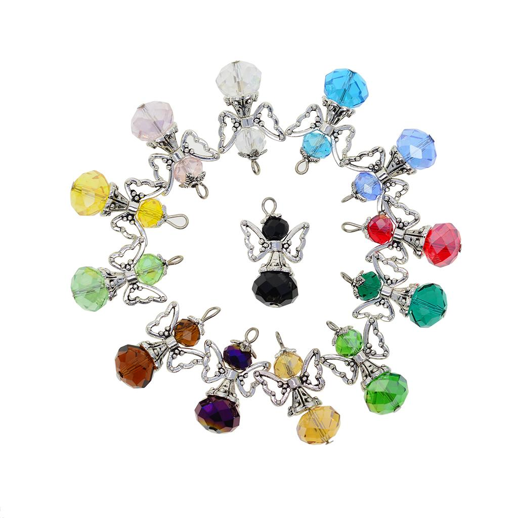 50pcs Made for an Angel Charms Pendant Beads DIY Jewelry Pendant 18x12mm