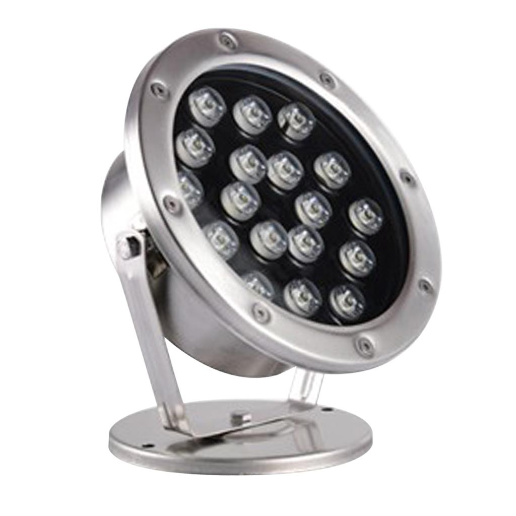 miniatura 7 - Lampada Illuminazione Subacquea LED Luce Fontane Stagni Lega Alluminio 18W