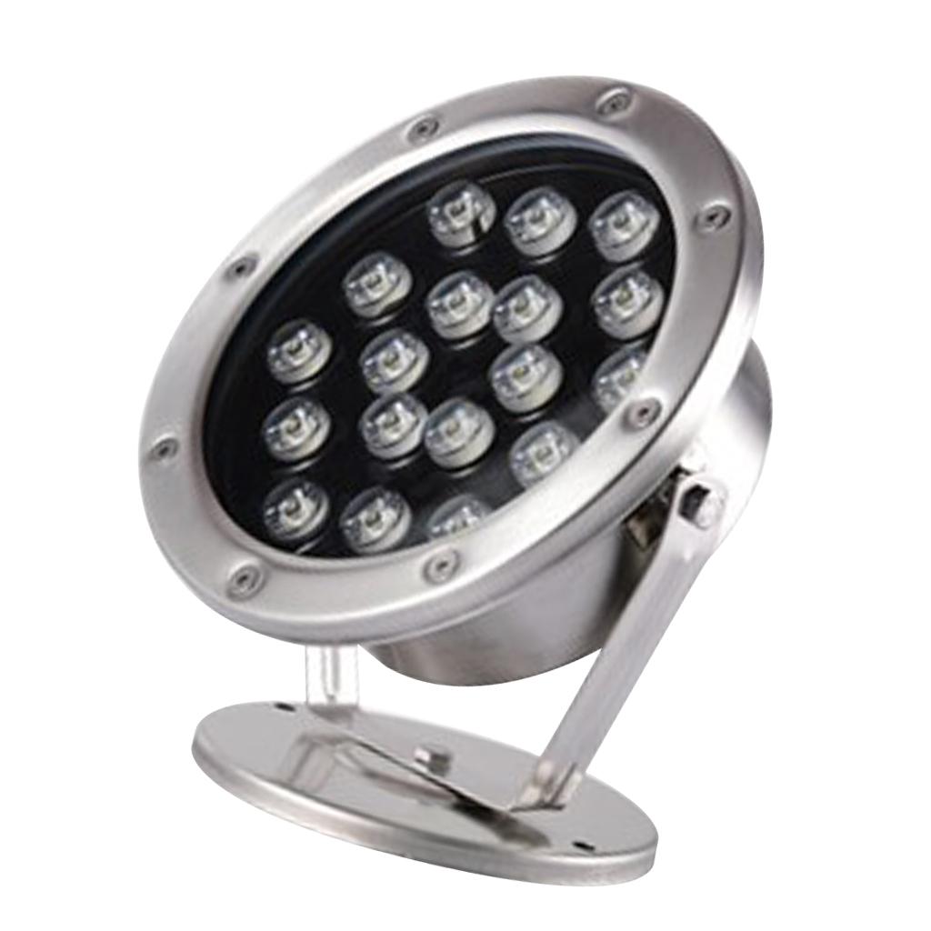 miniatura 8 - Lampada Illuminazione Subacquea LED Luce Fontane Stagni Lega Alluminio 18W