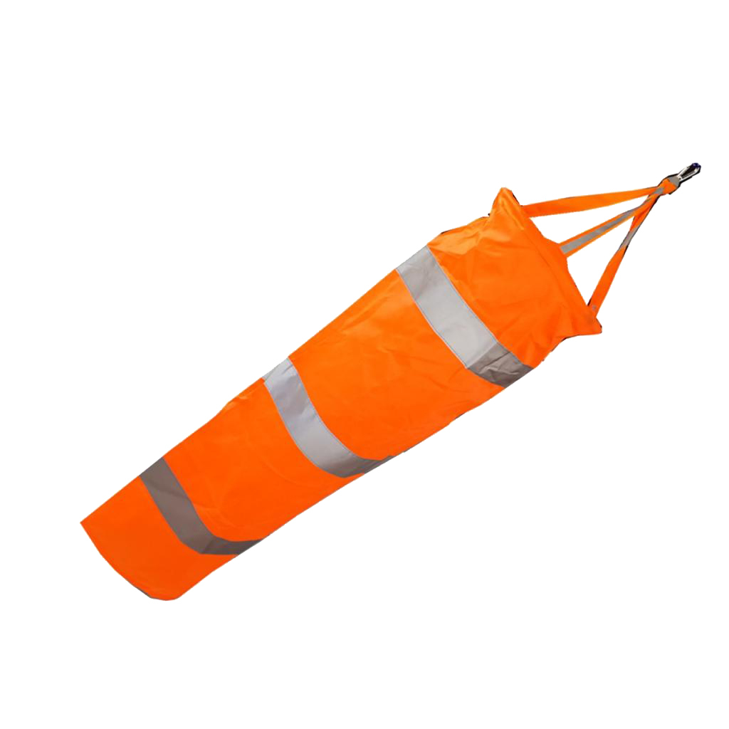 Airport-Windsock-Wind-Cone-60-80-100cm-Outside-Wind-Sock-w-Reflective-Belts thumbnail 8