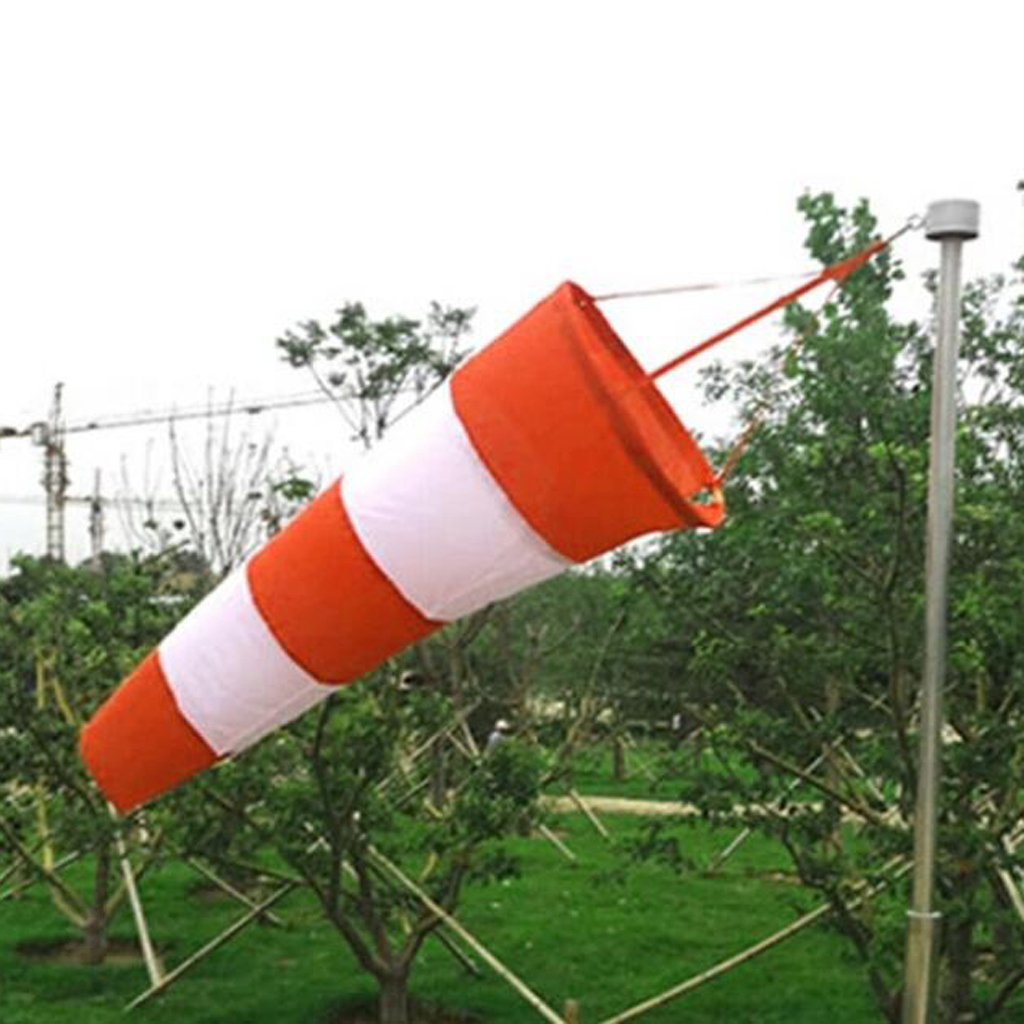 Airport-Windsock-Wind-Cone-60-80-100cm-Outside-Wind-Sock-w-Reflective-Belts thumbnail 9