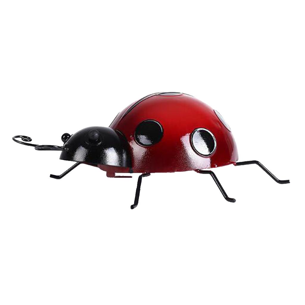 Metal-Ladybug-Garden-Decoration-Wall-Hanging-Sculpture-Figure-Hanger-Decor thumbnail 4