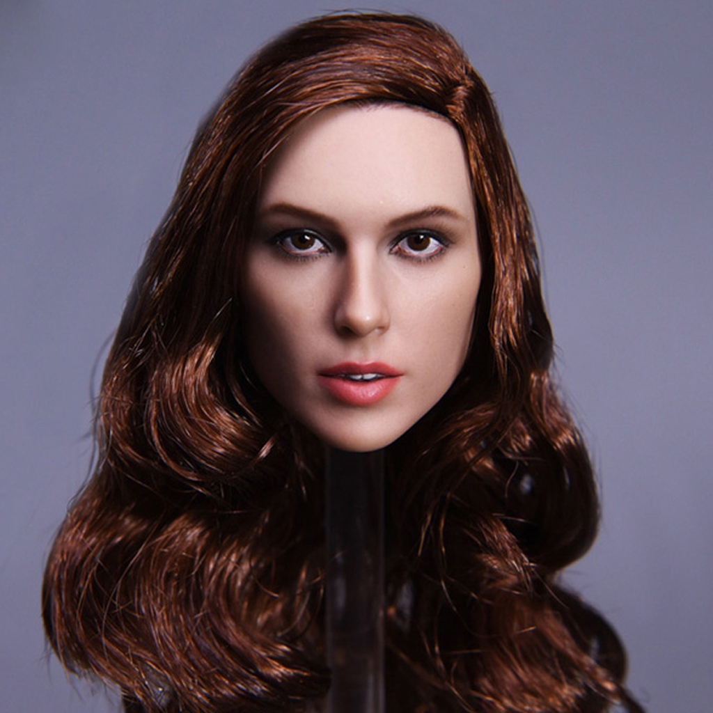 1//6 Lady Head Sculpt Carved Model JX-09 for Hot Toys 12/'/' Action Figure Body