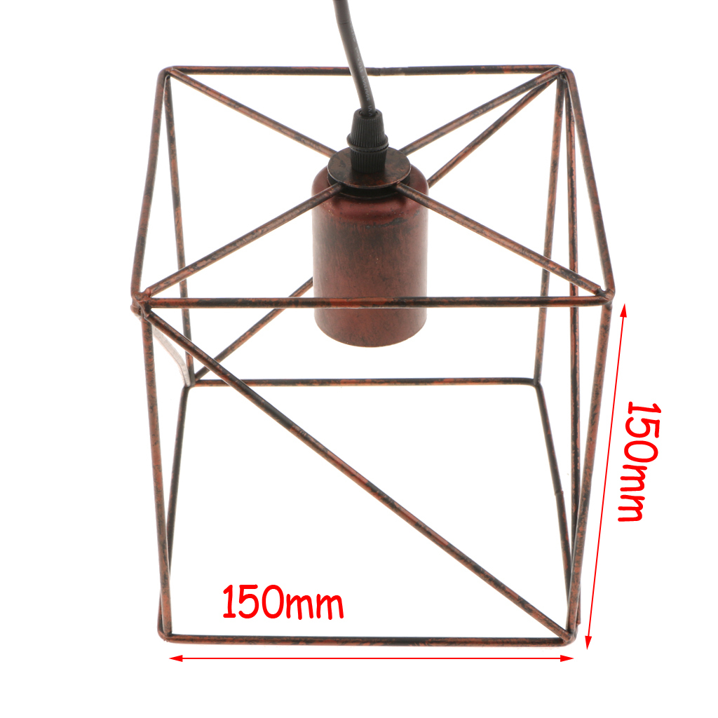 Cube-Lamp-Cage-Ceiling-Light-Shade-Lampshade-Pendant-Lights-Fixture-Home-Decor thumbnail 18