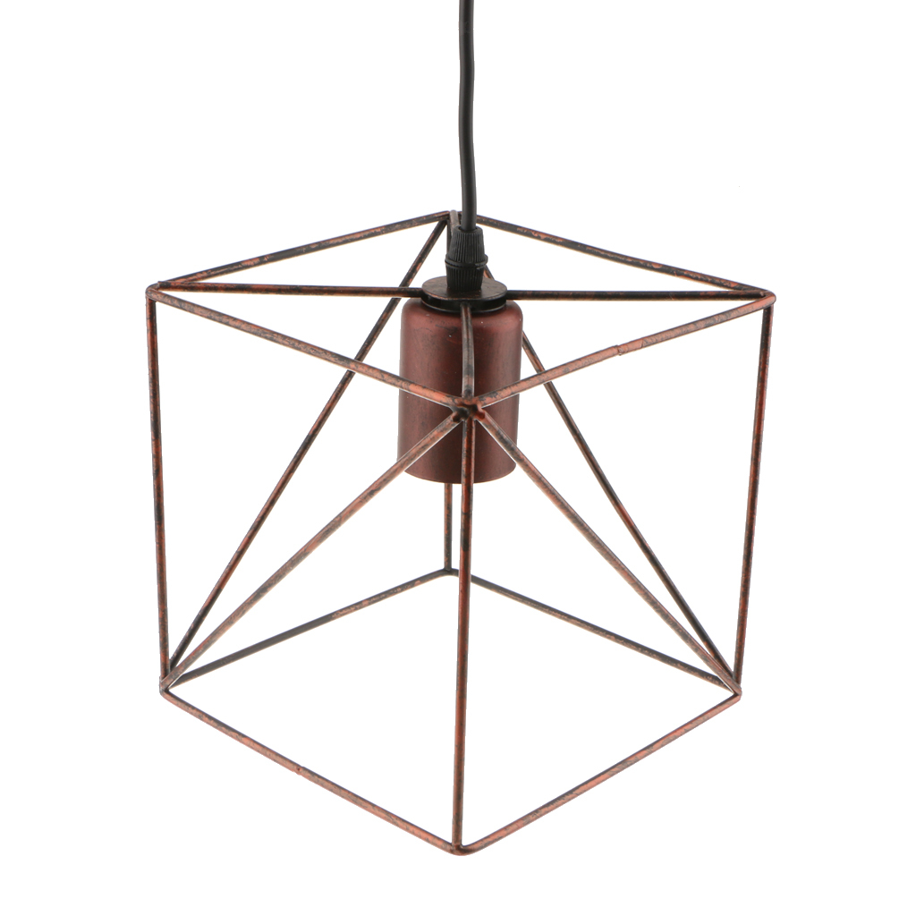 Cube-Lamp-Cage-Ceiling-Light-Shade-Lampshade-Pendant-Lights-Fixture-Home-Decor thumbnail 20