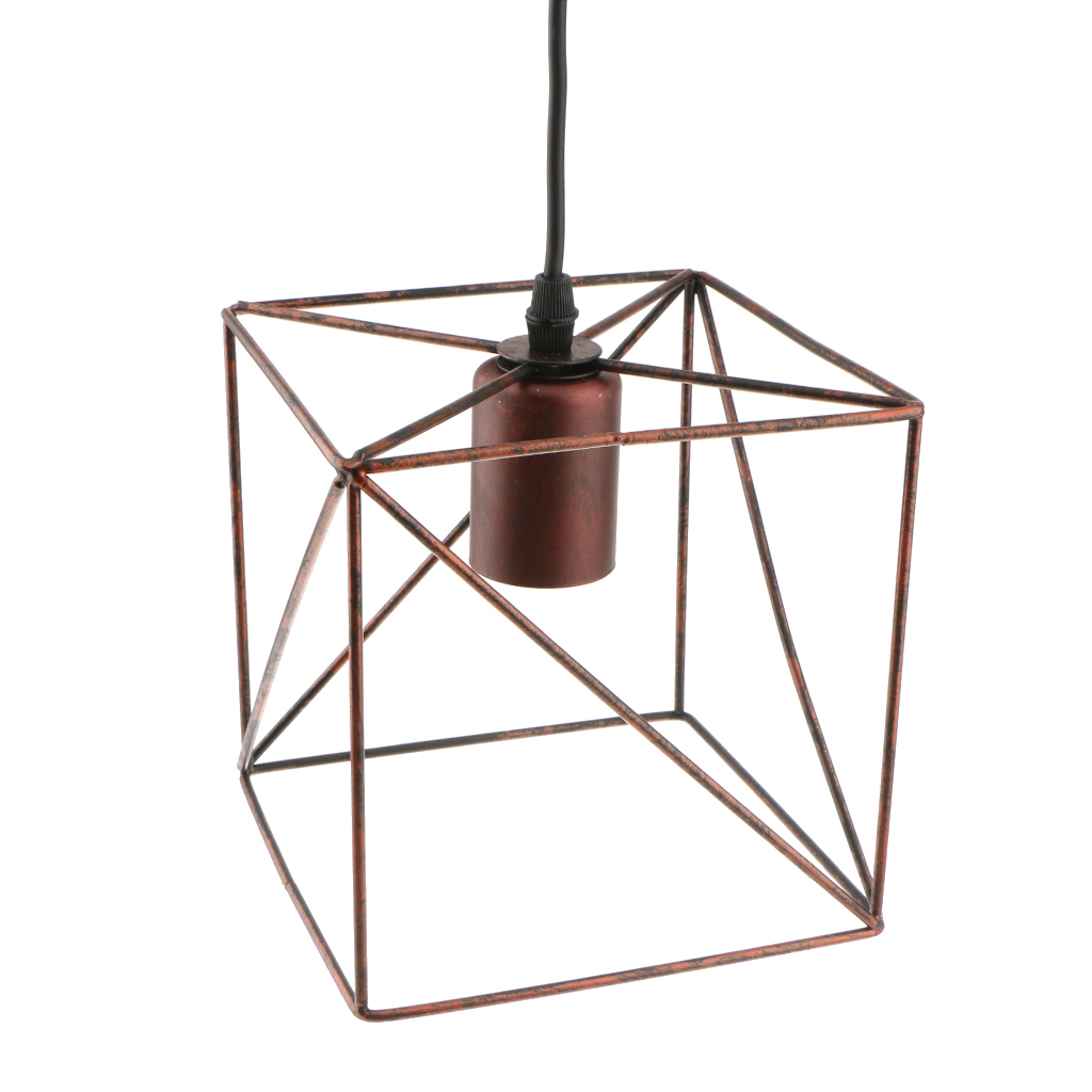 Cube-Lamp-Cage-Ceiling-Light-Shade-Lampshade-Pendant-Lights-Fixture-Home-Decor thumbnail 19