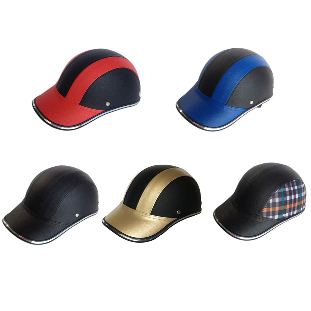 Adjustable Baseball Cap Hat Safety Helmet for Riding Cycling Bicycle Motorcycle