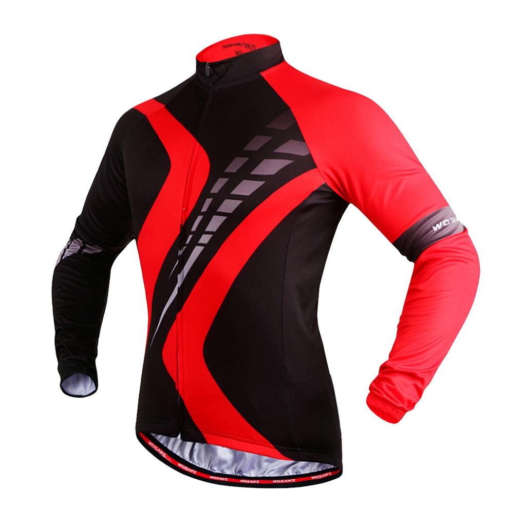 Maillot-Cyclisme-Manches-Longues-Respirant-Sechage-Rapide-Tenus-pour-Velo miniature 10