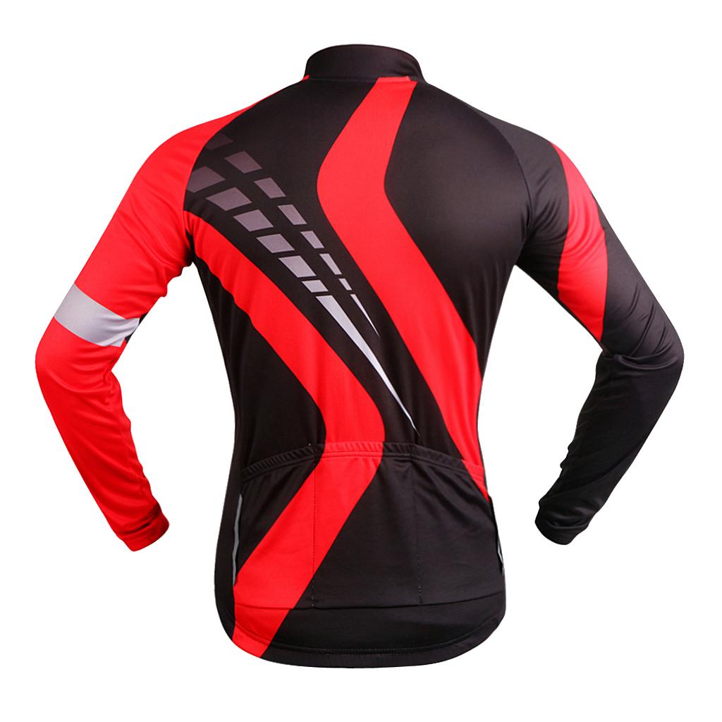 Maillot-Cyclisme-Manches-Longues-Respirant-Sechage-Rapide-Tenus-pour-Velo miniature 3