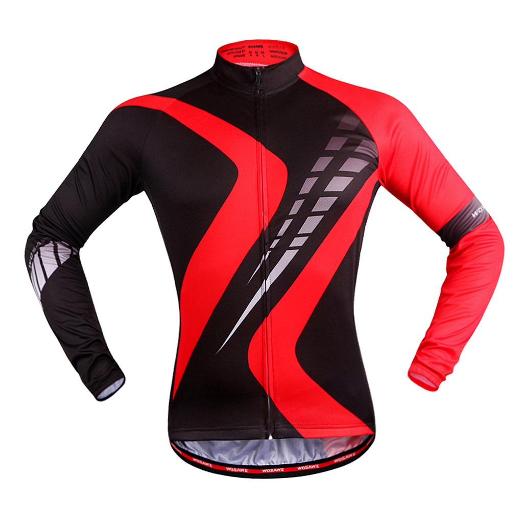 Maillot-Cyclisme-Manches-Longues-Respirant-Sechage-Rapide-Tenus-pour-Velo miniature 5