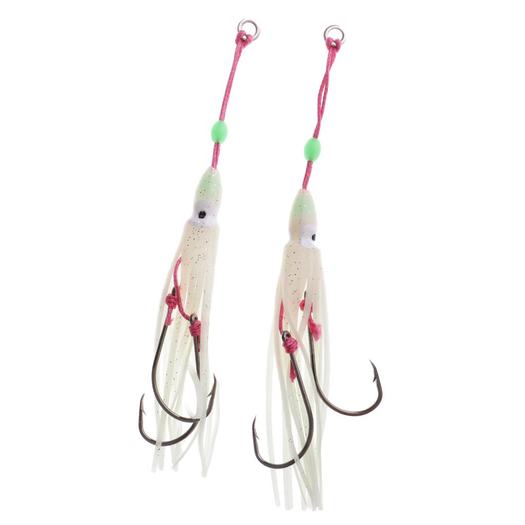 Leurres-de-peche-Squid-Jupes-Octopus-peche-a-la-traine-leurres-Set-2pcs miniature 18