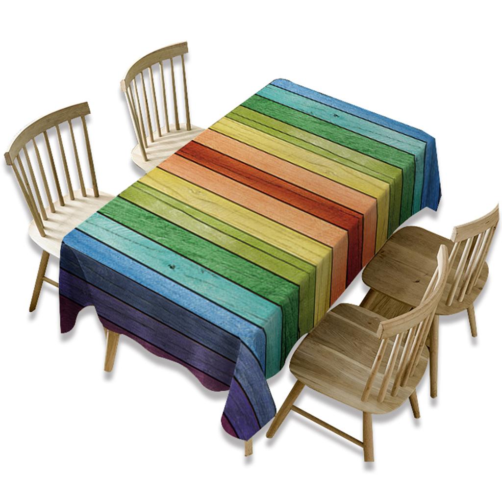 Rectangulaire-Nappe-de-Table-Couverture-Impermeable-Embellissement-de-Table miniature 28