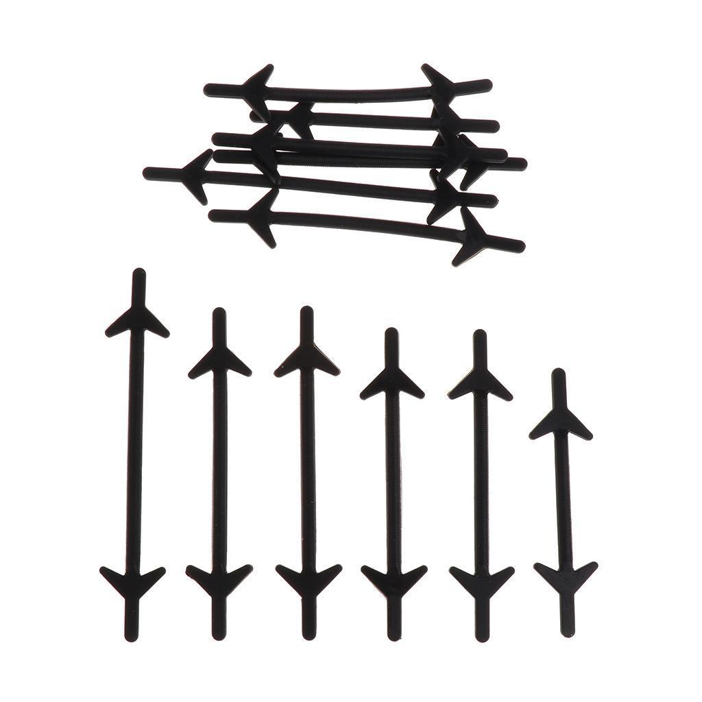 12pc-set-unisexe-sans-lacets-lacets-baskets-en-silicone-elastique miniature 4