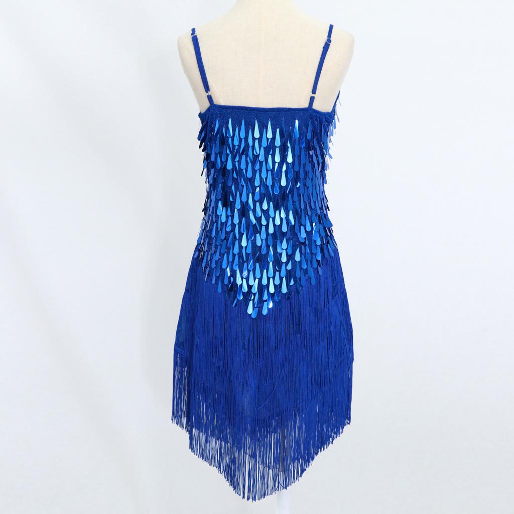 4bcb8e542 Prom Party Ladies Latin Tango Cocktail Dance Dress Fringe Tassels ...