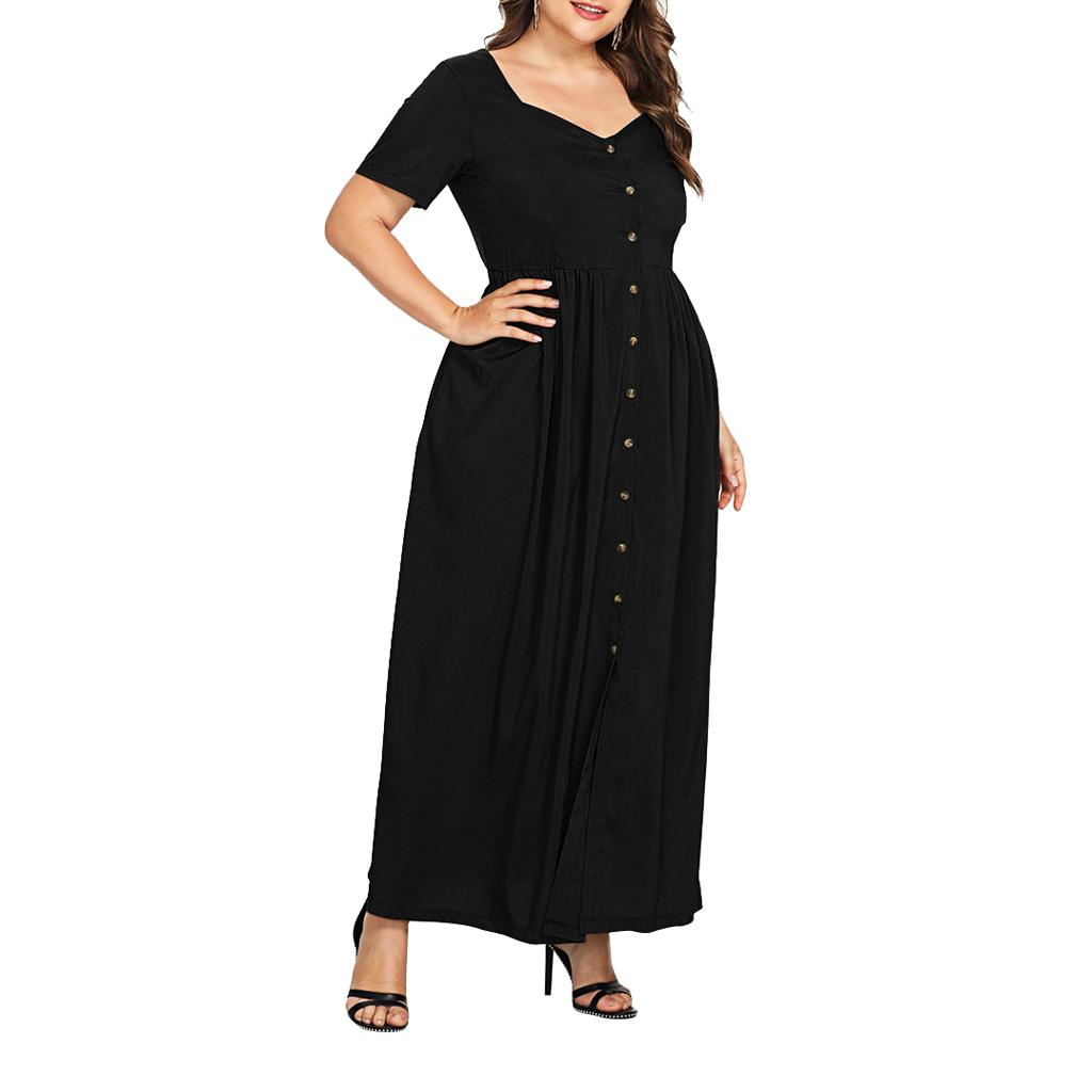 Damen Maxikleid Große Größen Kleid Lange Abendkleid ...