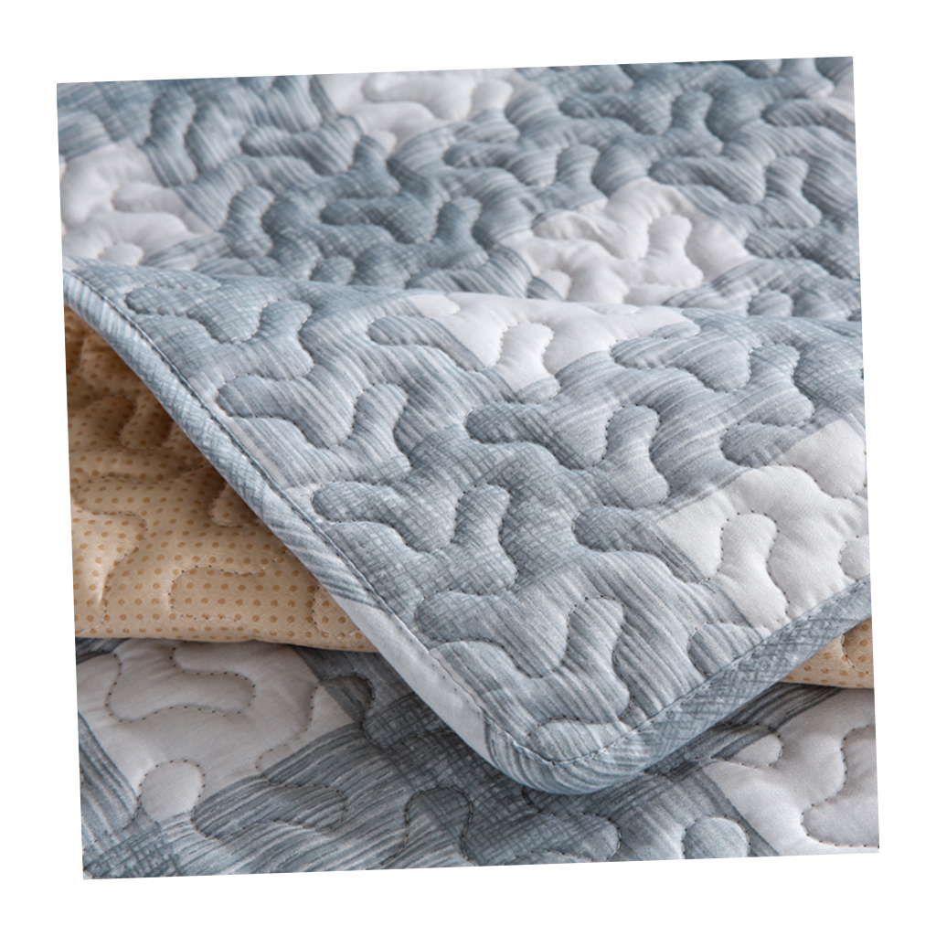 Blesiya Quilted Cotton Sofa Cushion Mat Slip Cover Home