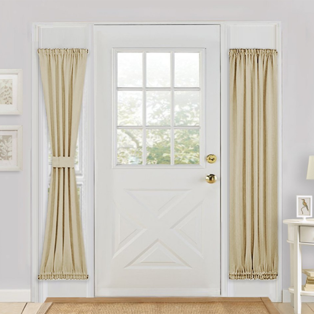 Solid-Color-Blackout-French-Door-Curtain-Panel-Rod-Pocket-Window-Treatment thumbnail 4