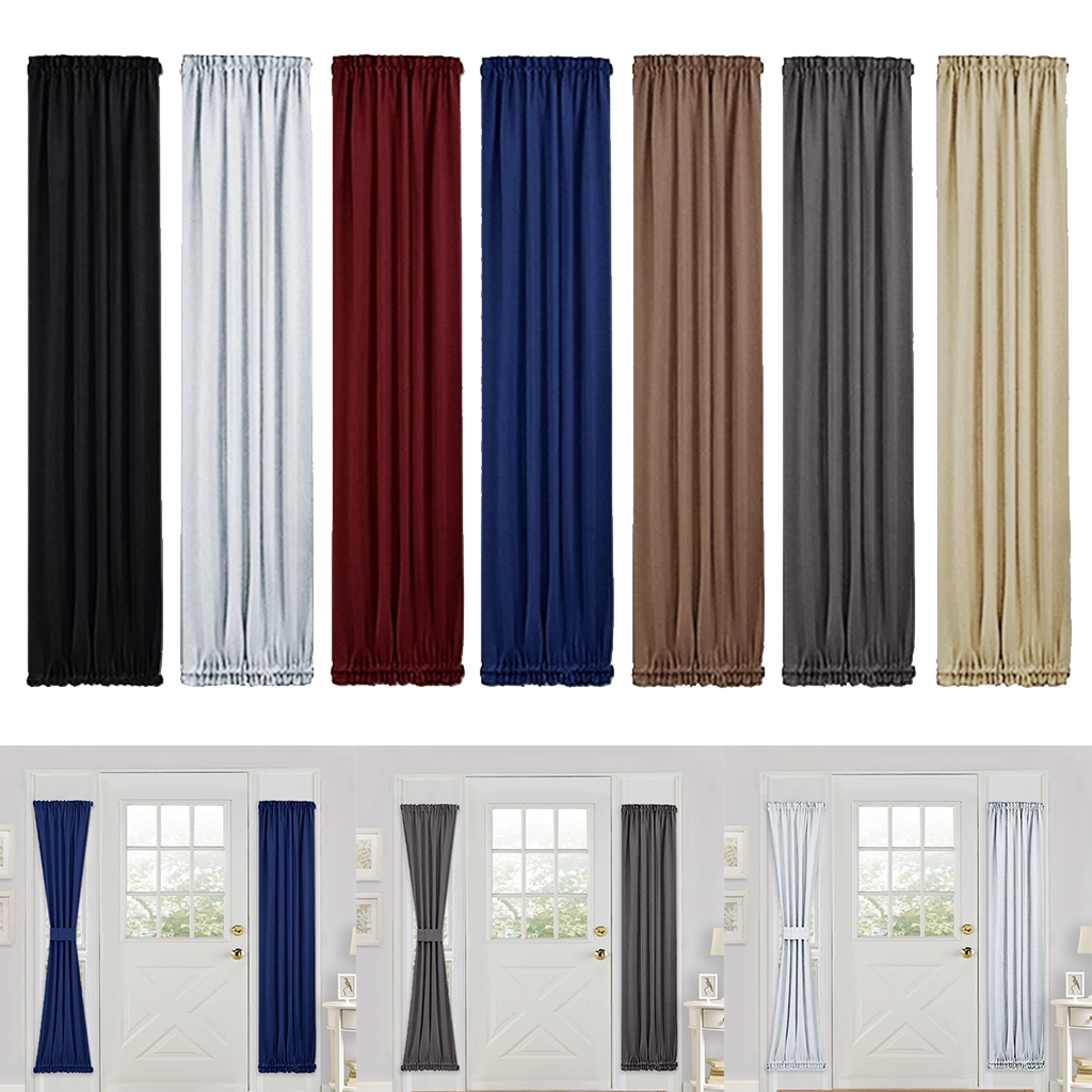 Solid-Color-Blackout-French-Door-Curtain-Panel-Rod-Pocket-Window-Treatment thumbnail 3