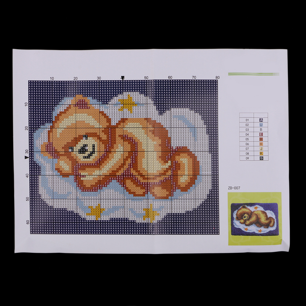 Chinese DIY Sewing Counted Cross Stitch Embroidery Kit Set Bear Family Design SS