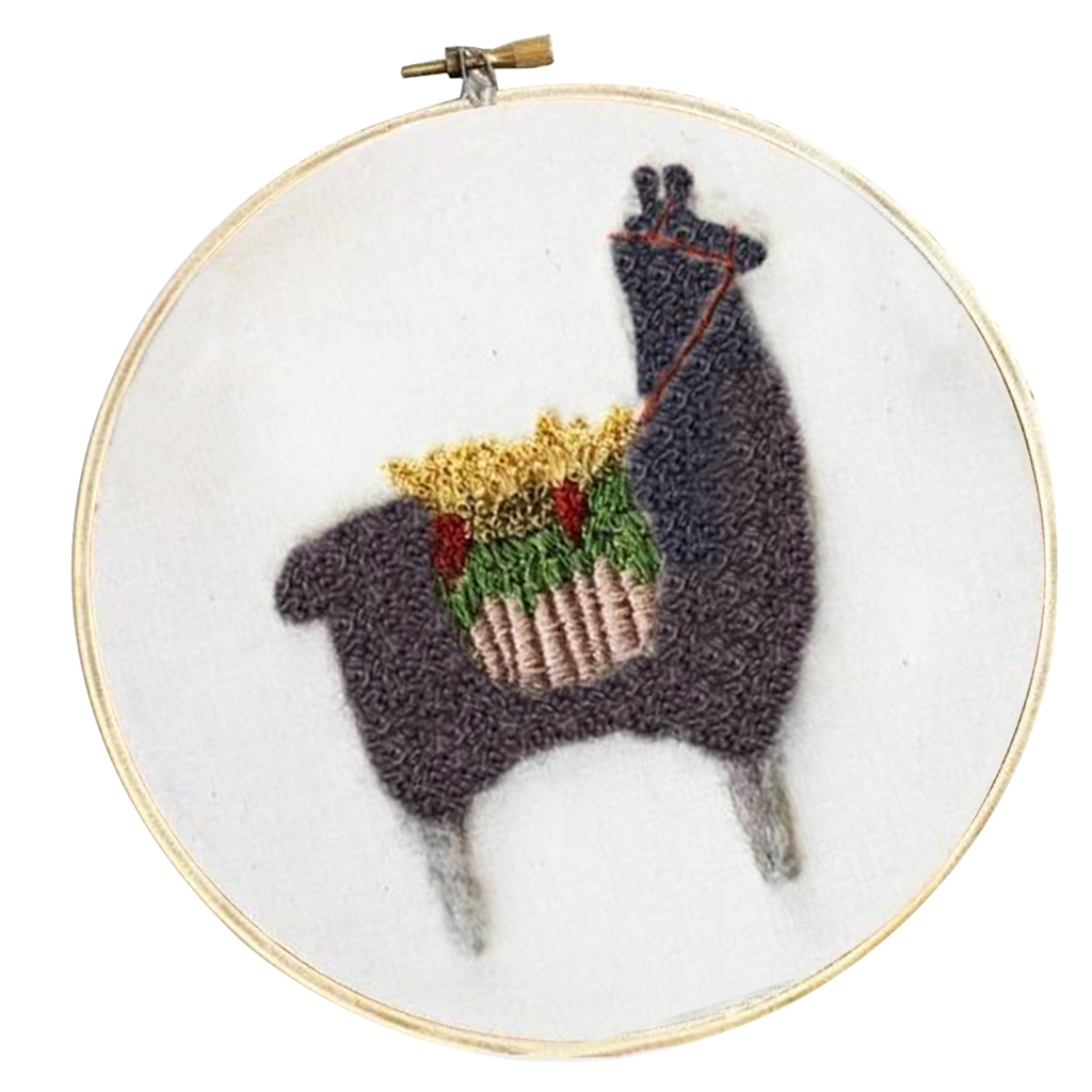 Cute-Alpaca-Pattern-DIY-Needlework-Kits-Stamped-Embroidery-Making-Kits thumbnail 13