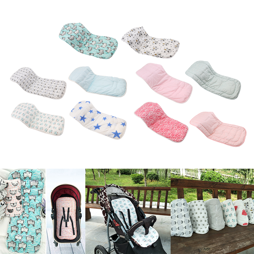 Cotton Baby Pram Stroller Seat Liner Cushion Pad Infant Nappy Pad Changing Mat