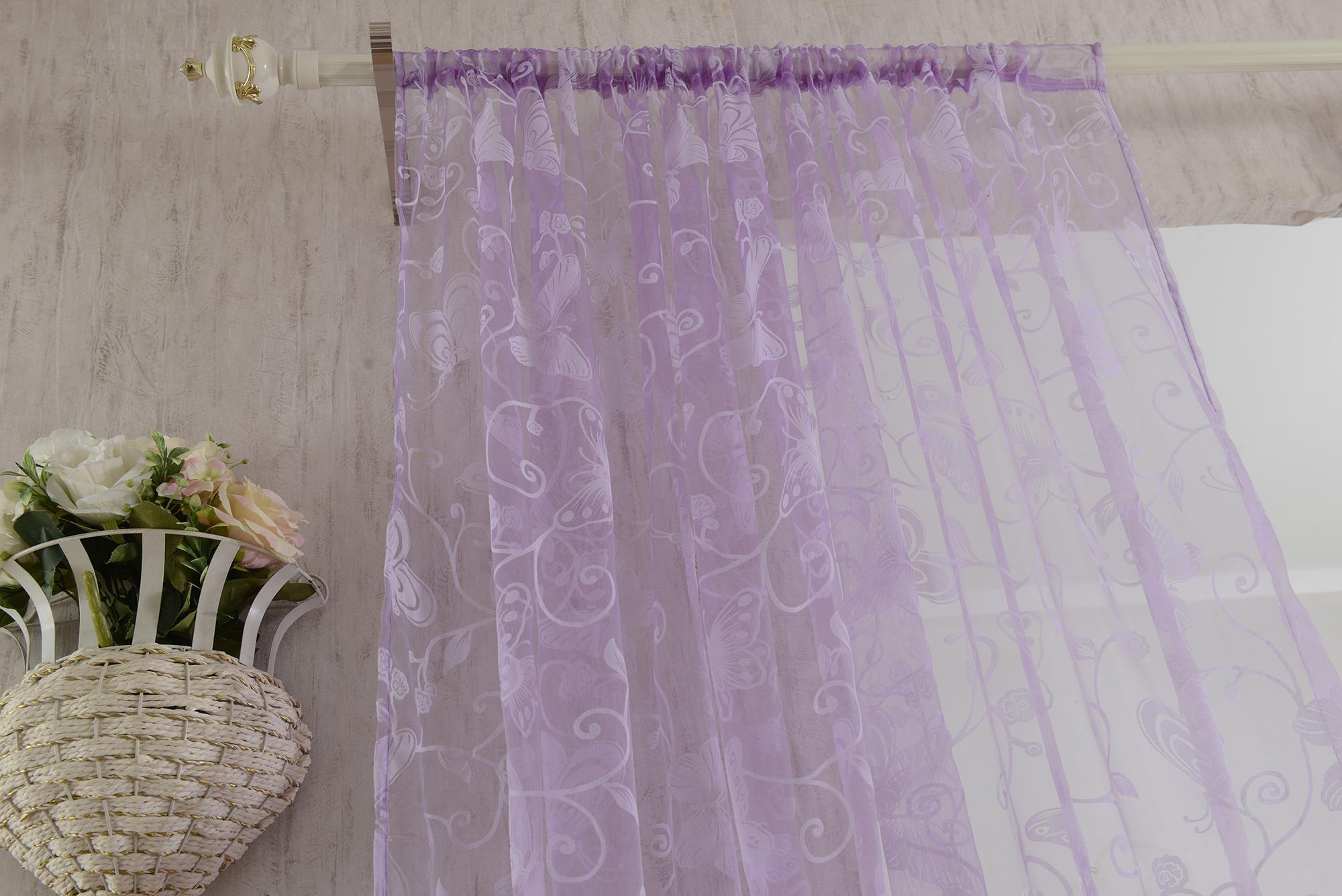 rideau voilage de fenêtre de papillon décoration pour