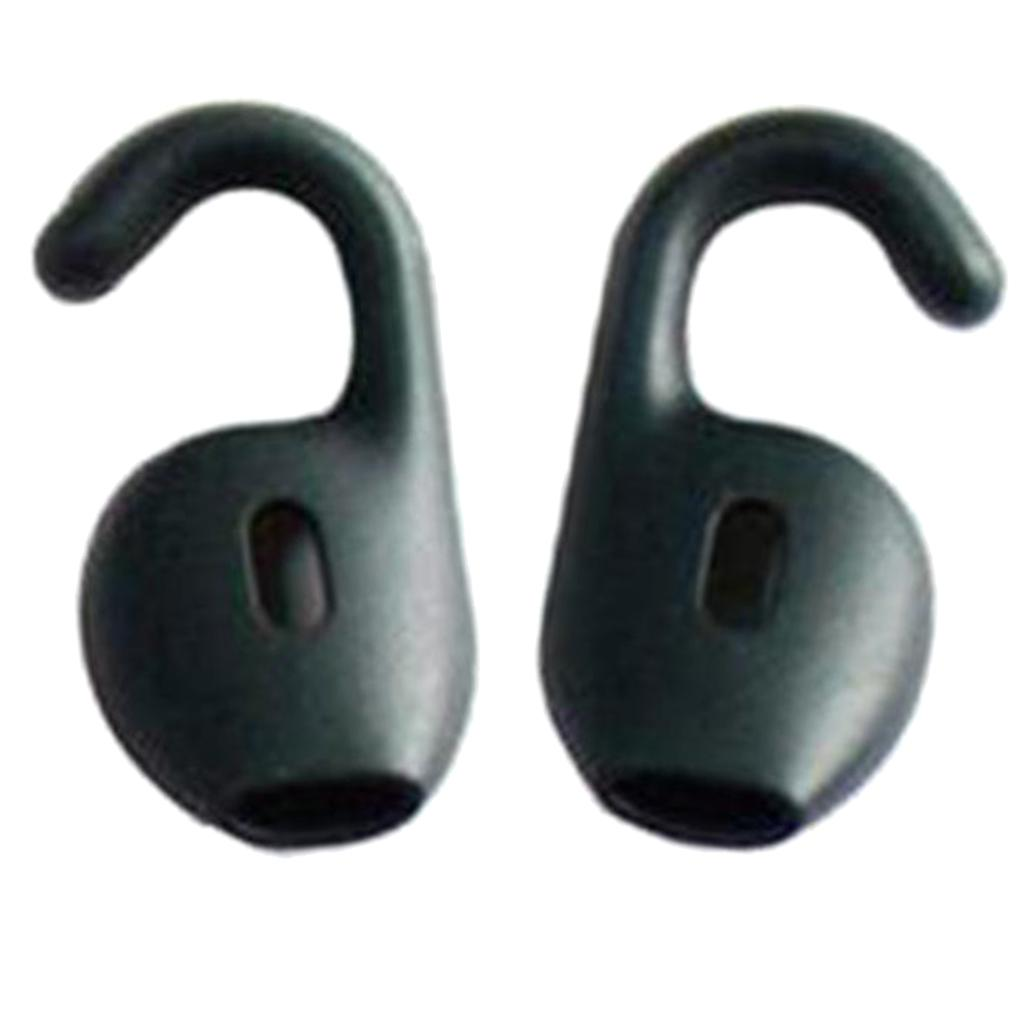 1 Pair Silicone Ear Tips Headphone Cover For Jabra Boost Black