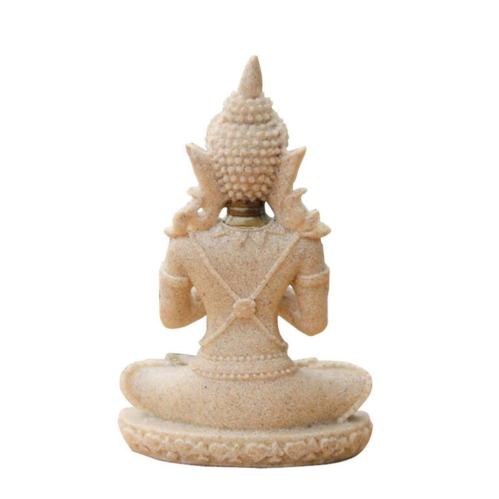 Sandstone-Carving-Statue-Sculpture-Buddha-Animal-Hand-Carved-Figurine-Decor thumbnail 18