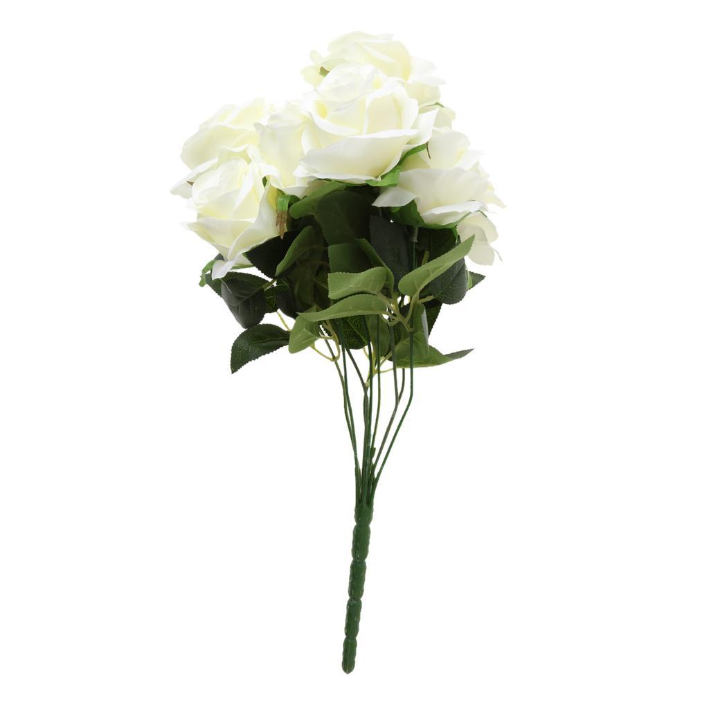 Large-9-HEADS-Artificial-Rose-Silk-Flowers-Fake-Floral-Valentines-Wedding-Decors thumbnail 5