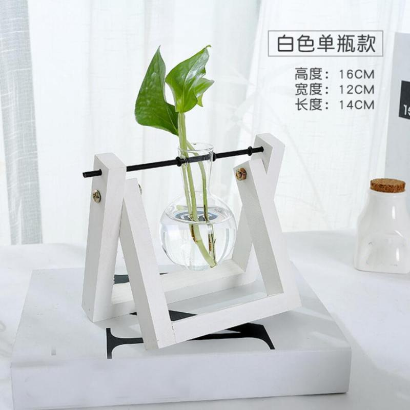 Tabletop-Hydroponic-Flower-Vase-Stands-Decorative-Wooden-Tray-with-1-2-3-Beakers thumbnail 3
