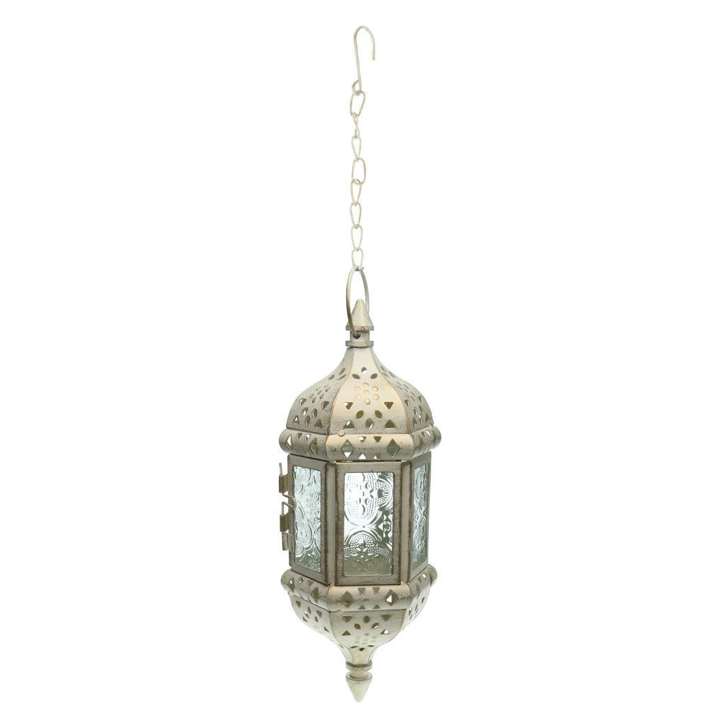 Vintage Hanging Candle Holder Moroccan Glass Candle ...