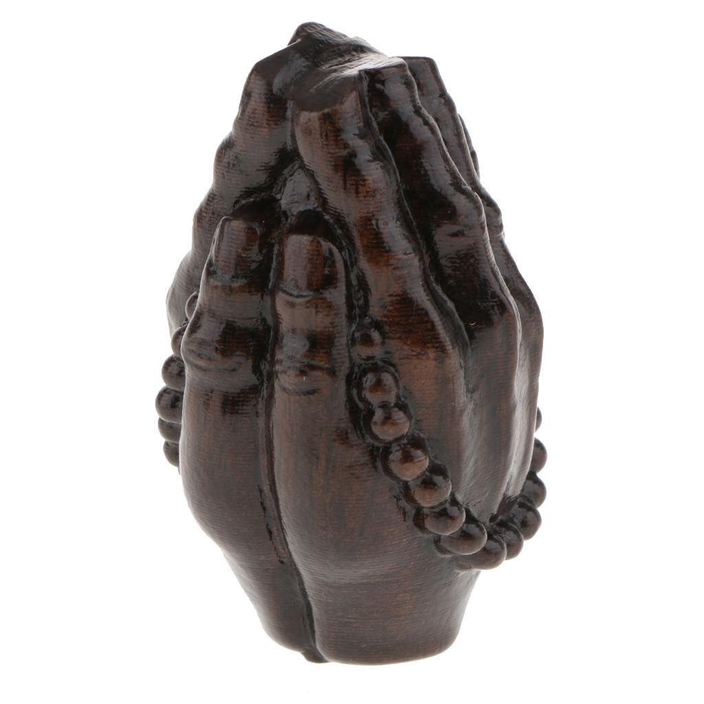miniatura 11 - Statua Buddista Figurina Artigianale Ornamenti Supporto Tavolo Legno